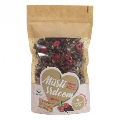 TOPNATUR Müsli srdcom Malina & belgická čokoláda 350 g