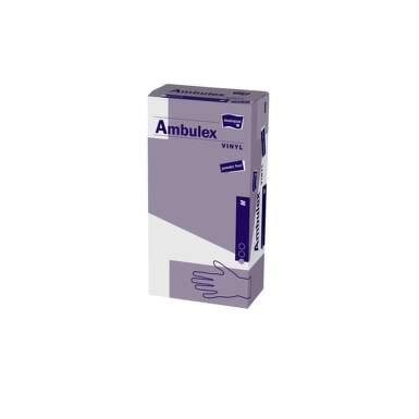 AMBULEX Rukavice vinylové veľkosť S pudrované 100 kusov