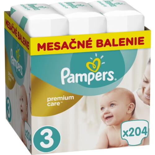 Pampers Premium Care 3 MIDI 6-10 kg 204ks