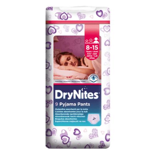 HUGGIES DryNites large pre dievčatá 8-15 rokov 9 kusov