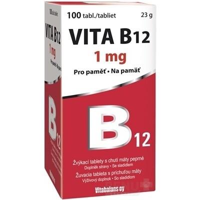Vitabalans VITA B12 1000 mcg, 1x100 ks tbl mnd 100