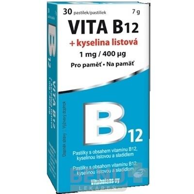 Vitabalans VITA B12 + kyselina listová 1x30 ks 1x30 ks