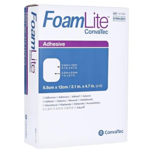 ConvaTec Foam Lite penové krytie na rany 5,5x12 cm 10ks