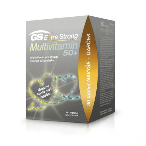 GS Extra strong multivitamin 50+ darček 2020 90 + 30 tabliet ZADARMO