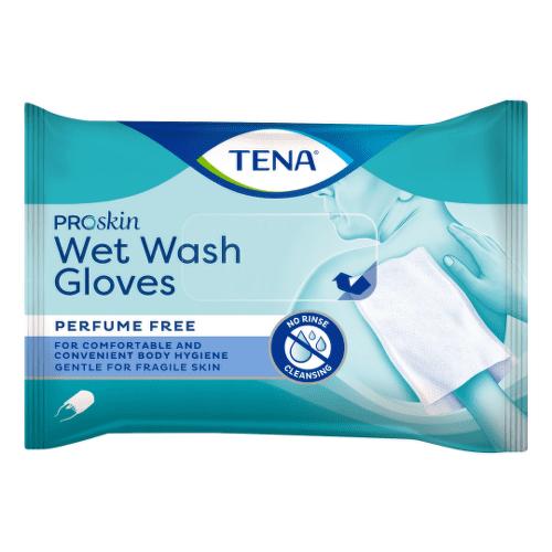 TENA Wet vlhčené rukavice na umývanie 8 kusov
