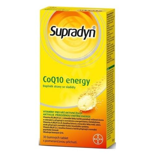 SUPRADYN CoQ10 Energy 30 šumivých tabliet