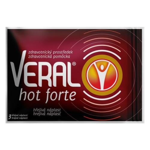 VERAL HOT Forte hrejivá náplasť 3 kusy