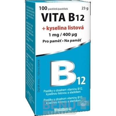 Vitabalans VITA B12 + kyselina listová 1x100 ks 10x10 ks