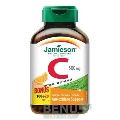 JAMIESON VITAMÍN C 500 mg pomaranč tbl 120