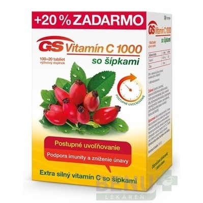 GS Vitamín C 1000 so šípkami tbl 100+20