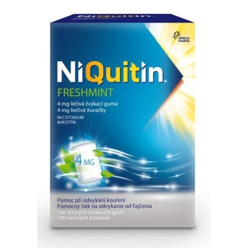 NIQUITIN Freshmint 4 mg liečivé žuvačky 100 kusov