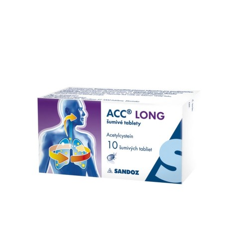 ACC LONG 600 mg 10 šumivých tabliet