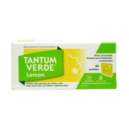 TANTUM VERDE Lemon 20 tvrdých pastiliek