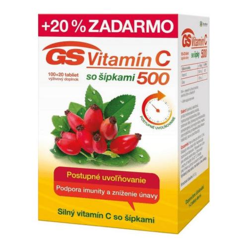 GS Vitamín C 1000 so šípkami 100 + 20 tabliet ZADARMO