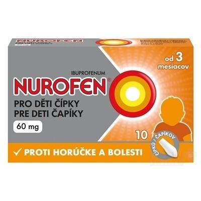 NUROFEN pre deti čapíky 60 mg sup 10x60mg