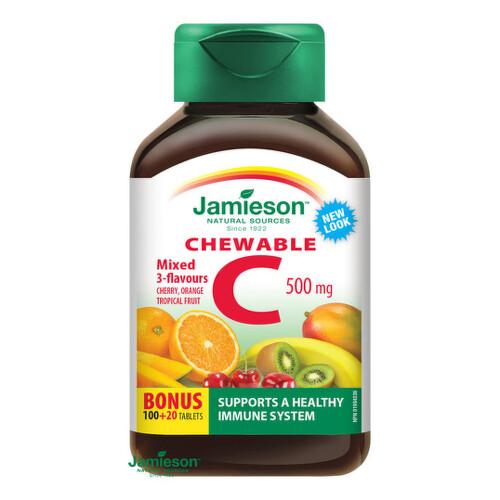 JAMIESON Vitamín C 500 mg mix 120 kapsúl
