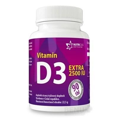 NUTRICIUS Vitamín D3 EXTRA 2500 IU tbl 90