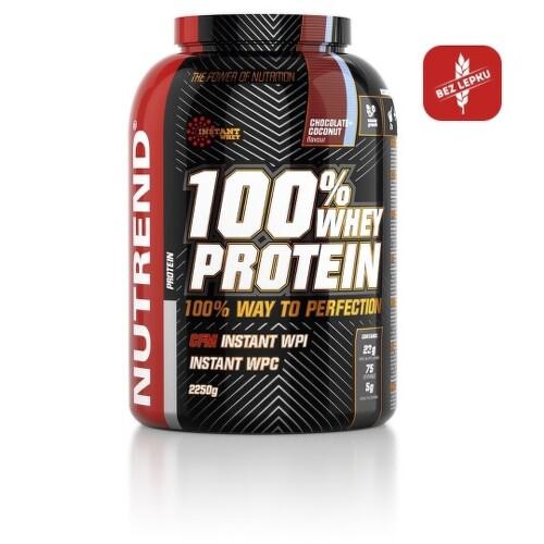 NUTREND 100% Whey protein s príchuťou vanilka 2250 g
