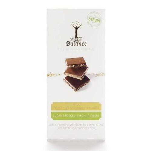 BALANCE Mliečna čokoláda so sladidlom zo stévie s príchuťou pistácie a mandle 85 g