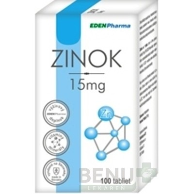 EDENPharma ZINOK 15 mg tbl 100