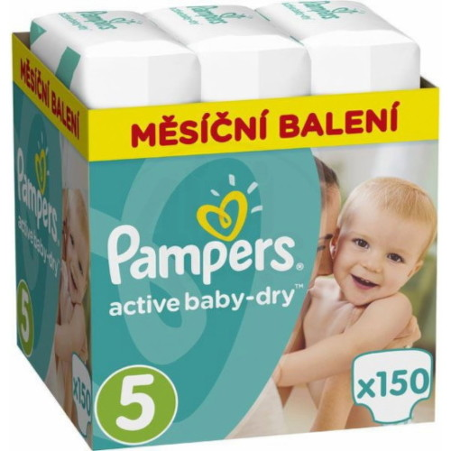 PAMPERS Active baby 5 junior 11-16 kg 150 kusov