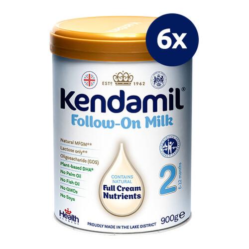 KENDAMIL Pokračovacie dojčenské mlieko 2 DHA+ 900 g - balenie 6 ks