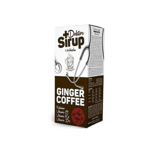 DOKTOR SIRUP Kalciový sirup ginger coffee 200 ml