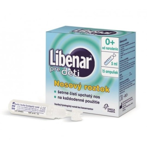 LIBENAR Pre deti nosové kvapky 15 x 5 ml
