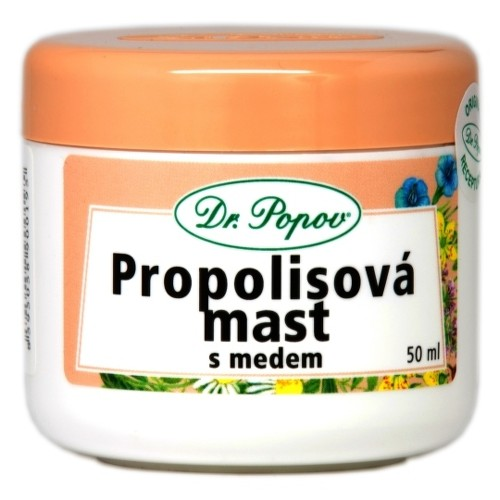 DR. POPOV MASŤ PROPOLIS + MED 50ml