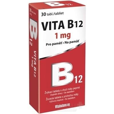 Vitabalans VITA B12 1000 mcg, 1x30 ks tbl mnd 30