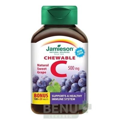 JAMIESON VITAMÍN C 500 mg hrozno tbl 120