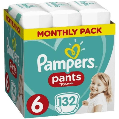 Pampers Pants 6, 15 kg 132ks