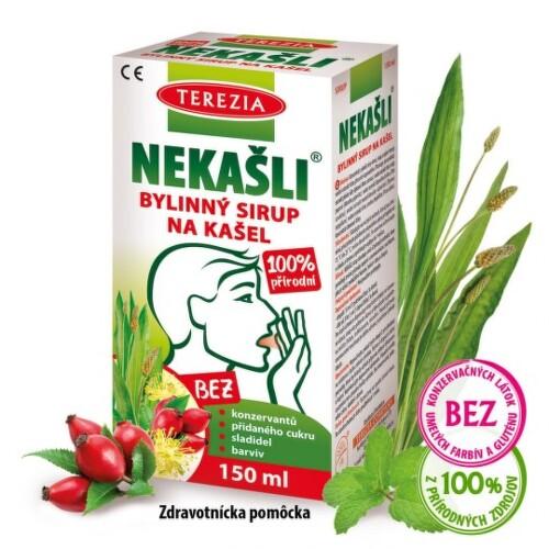 TEREZIA Nekašli bylinný sirup na kašeľ 150 ml