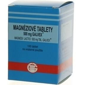 Magnesii lactas Galvex 500 mg (Magnéziové tablety) tbl 100x500mg