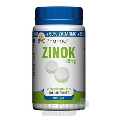 BIO Pharma Zinok 15 mg tbl 100+50 tbl 100+50