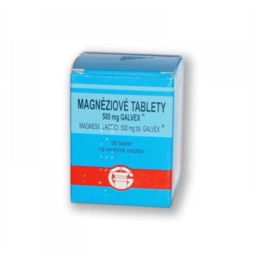Magnesii lactas Galvex 500 mg (Magnéziové tablety) tbl 50x500mg