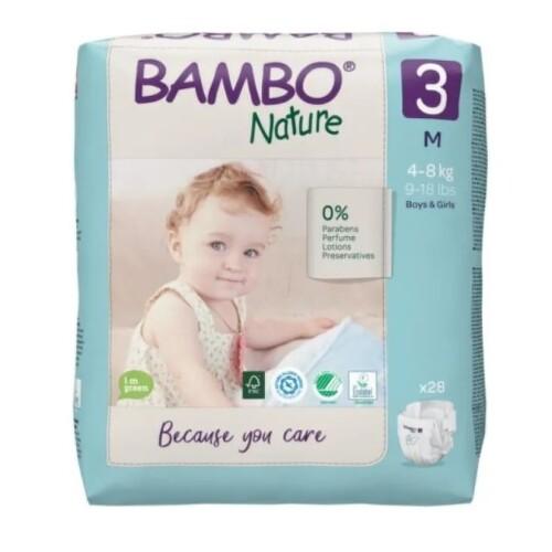 BAMBO 3 Detské plienky priedušné 28 kusov