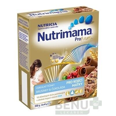 Nutrimama Profutura cereálne tyčinky brusnica, čokoláda 5x40 g 5x40g