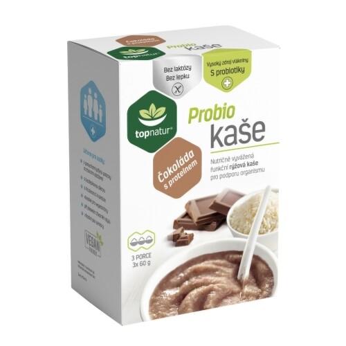 TOPNATUR Probio kaša čokoláda s proteínom 3 x 60 g