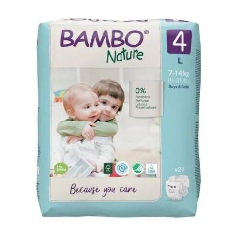 BAMBO 4 Detské plienky priedušné 24 kusov