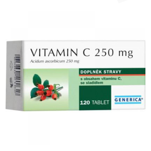 GENERICA Vitamín C 250 mg 120 tabliet