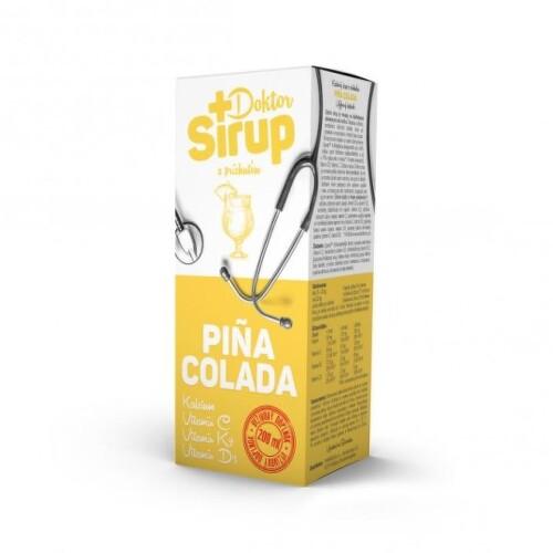 DOKTOR SIRUP Kalciový sirup pina colada 200 ml