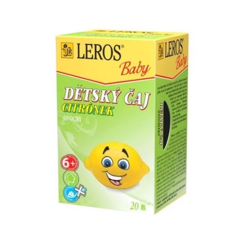 LEROS Baby detský čaj citrónik 20 x 2 g