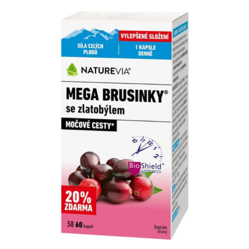 SWISS NATUREVIA mega brusnice so zlatobyľou 60 kapsúl