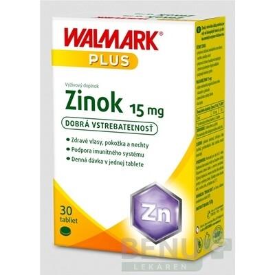 WALMARK Zinok 15 mg (inov. obal 2018) tbl 1x30 ks tbl 30