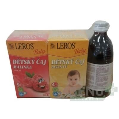 LEROS Baby šťava + čaj malinka + čaj bylinkový 1 set