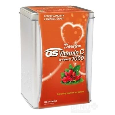 GS Vitamín C 1000 so šípkami darček 2019 tbl 100+20
