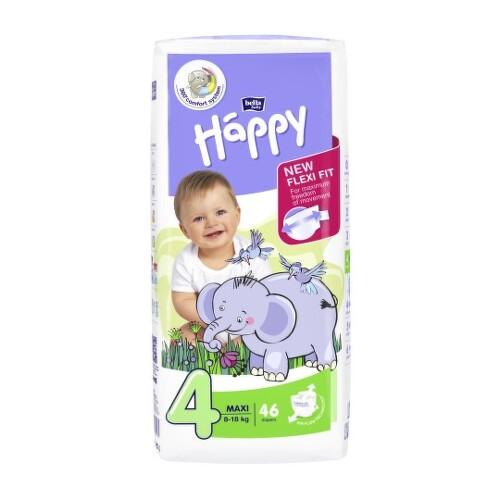 HAPPY Detské plienky 4 maxi 46 kusov
