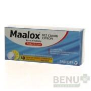 MAALOX bez cukru s príchuťou citróna 40 žuvacích tabliet