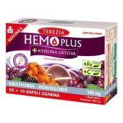 TEREZIA HEMOPLUS + KYSELINA LISTOVÁ cps 50+10